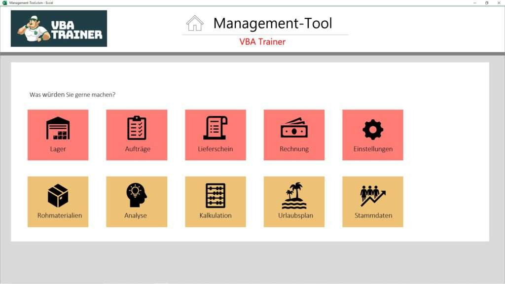 VBATrainer Excel VBA Coaching - Startseite