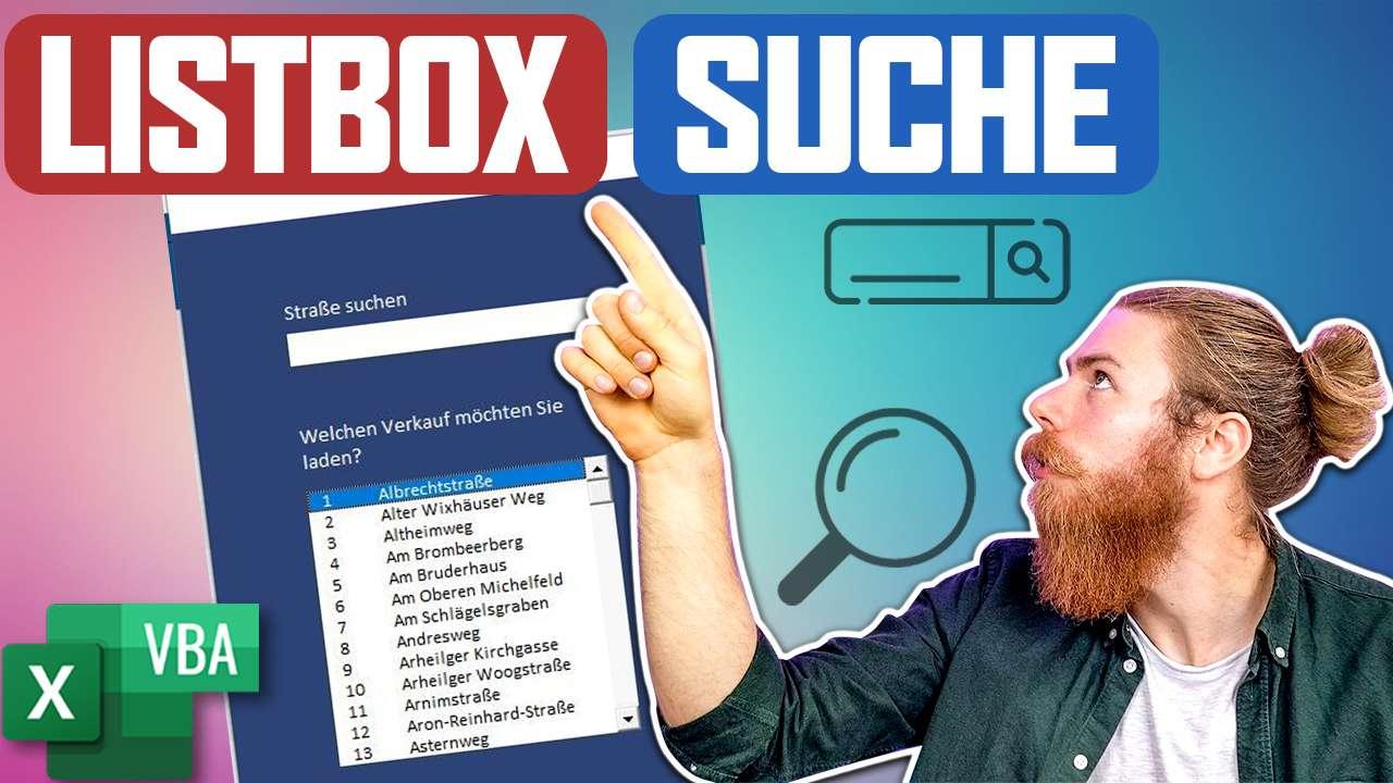 VBATrainer Excel VBA Coaching -ListBox Suche